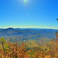 White Side Mountain Nantahala National Forest In Autumn by Lisa Wooten