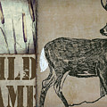 White Tail Deer Wild Game Rustic Cabin by Mindy Sommers