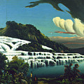 White Terraces, Rotomahana, By William Binzer. by William Binzer
