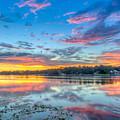 White Trout Lake Sunset - Tampa, Florida  by Lance Raab