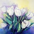 White Tulips by Judy Fischer Walton