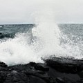 White Waves Black Rocks by Kendall Tabor