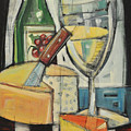 White Wine And Cheese by Tim Nyberg