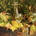White Wine And Grape In Vineyard by Goce Risteski