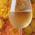 White Wine And Yellow Roses by Garry Gay
