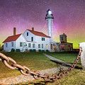 Whitefish Point Lighthouse   Northern Lights -0524 by Norris Seward