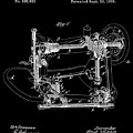 Whitehill Sewing Machine Patent 1885 Black by Bill Cannon