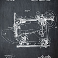 Whitehill Sewing Machine Patent 1885 Chalk by Bill Cannon