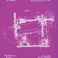 Whitehill Sewing Machine Patent 1885 Pink by Bill Cannon