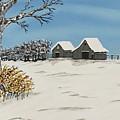 Winter Deer  Lookout by Jeffrey Koss