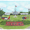 Whiting Field Welcome Sign by Betsy Hackett