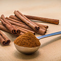 Whole Cinnamon Sticks With A Heaping Teaspoon Of Powder by Ray Sheley