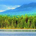 Whonnock Lake Mountain Photo Art by Sharon Talson