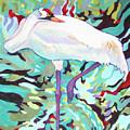 Whooping Crane Cynthia by Sharon Nelson-Bianco