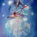 Whtie Buffalo Woman From The Pleiades by Pamela Mccabe