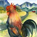 Why Did The Rooster Cross The Road by Ileana Carreno
