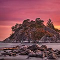 Whytecliff Island Sunset by Jacqui Boonstra