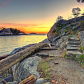 Whytecliff Park Sunset by Peter OBrien