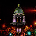 Wi State Capitol From West Washington Ave by Tommy Anderson