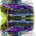 Wicked 1955 Chevy - Reflection by Steve Harrington