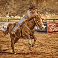 Wickenburg Senior Pro Rodeo Barrel Racing by Priscilla Burgers