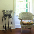 Wicker Chair And Planter by Louise Reeves