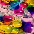 Wicker Marble Rainbow Fractal 2 by Tim Allen