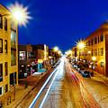 Wicker Park Light Trails by Misael Nevarez