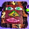 Wide Eyed Loup Garou Mardi Gras Screen Mask by Seaux-N-Seau Soileau