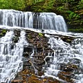 Wide Flowing Falls by Frozen in Time Fine Art Photography