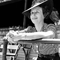 Wife Of The  The Arkansas Hummingbird Lon Warneke, Watches The Game From The Stands. 1939 by Anthony Calvacca