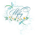 Wifey New Bride Dragonfly W Daisy Flowers N Swirls by Audrey Jeanne Roberts