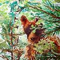 Wild Bear Peek-a-boo Watercolour by CheyAnne Sexton