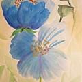 Wild Blue Poppies by Maria Urso
