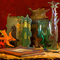 Wild, Colorful Abstracted, Contemporary Still Life by Michele A Loftus
