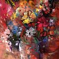 Wild Flowers Bouquet In A Terracota Vase by Miki De Goodaboom