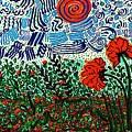 Wild Flowers Under Wild Sky by Sarah Loft