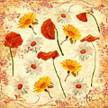 Wild Flowers Vintage by Angeles M Pomata