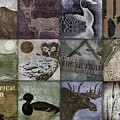 Wild Game Patchwork II by Mindy Sommers