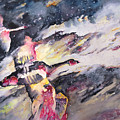 Wild Geese Flying In A Snow Storm by Miki De Goodaboom