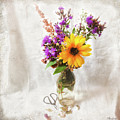 Wild Sunflower And Wildflowers Still Life by Anna Louise