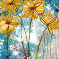 Wild Sunflowers- Art By Linda Woods by Linda Woods