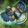 Wild Turkey In Flight by Marcia Baldwin