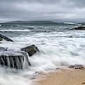 Wild Weather At Geodha Mhartainn On The Isle Of Harris by Janet Burdon