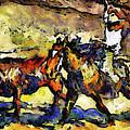 Wild Wild West Van Gogh Style Expressionism by Isabella Howard