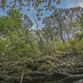 Wildcat Den Cliffs And Trees In Fall by Paul Brooks