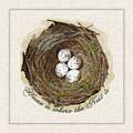 Wildcraft Nest On Linen by Artzmakerz