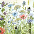 Wildflower And Bees by Laurie Rohner