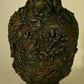 Wildflower Vase Detail by Dawn Senior-Trask