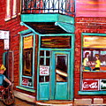 Wilenskys Cafe On Fairmount In Montreal by Carole Spandau